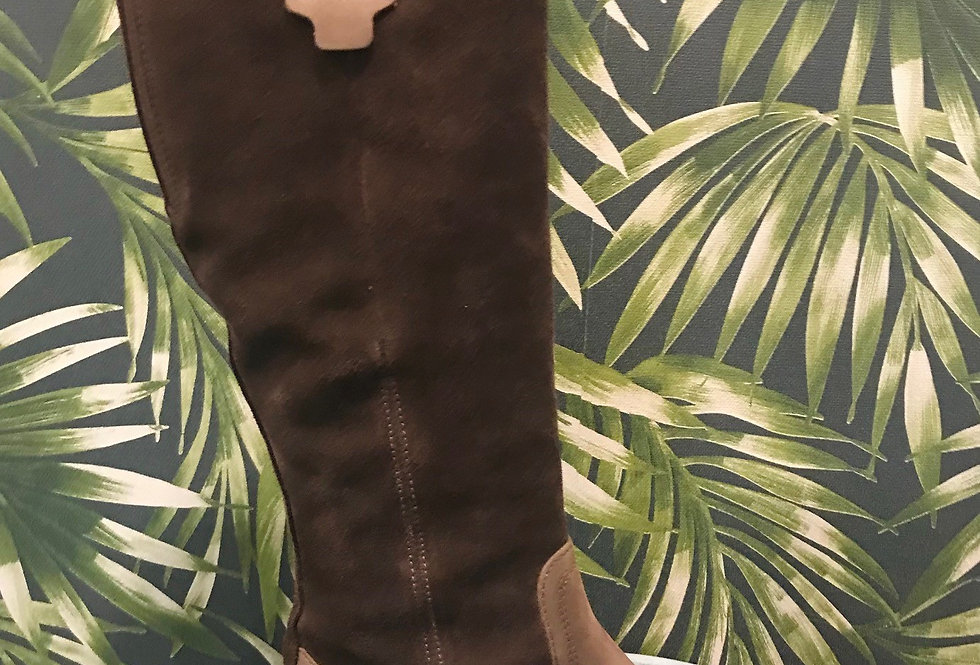 Long Brown Suede Boot