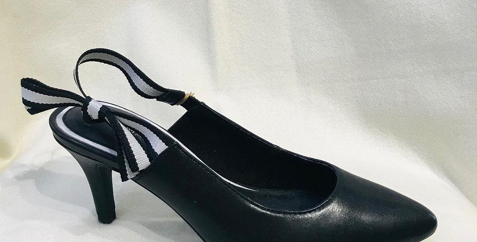 Black Bow Tie Court Shoe