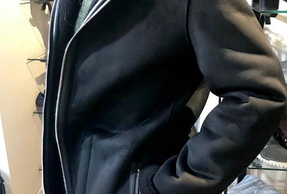 Black Suedette Chunky Jacket
