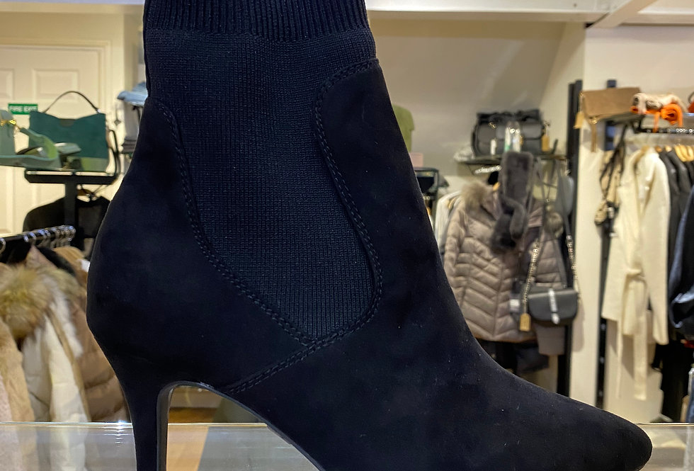 Black Thin Heel Sock Boot