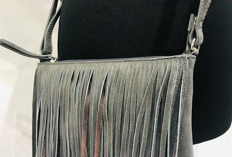 Suede Tassel Shoulder Bag