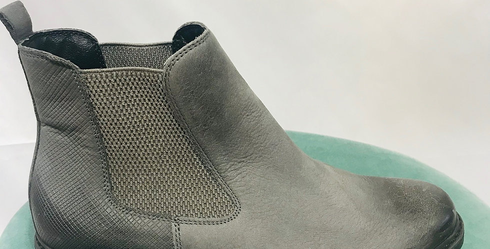 Grey Leather Boots