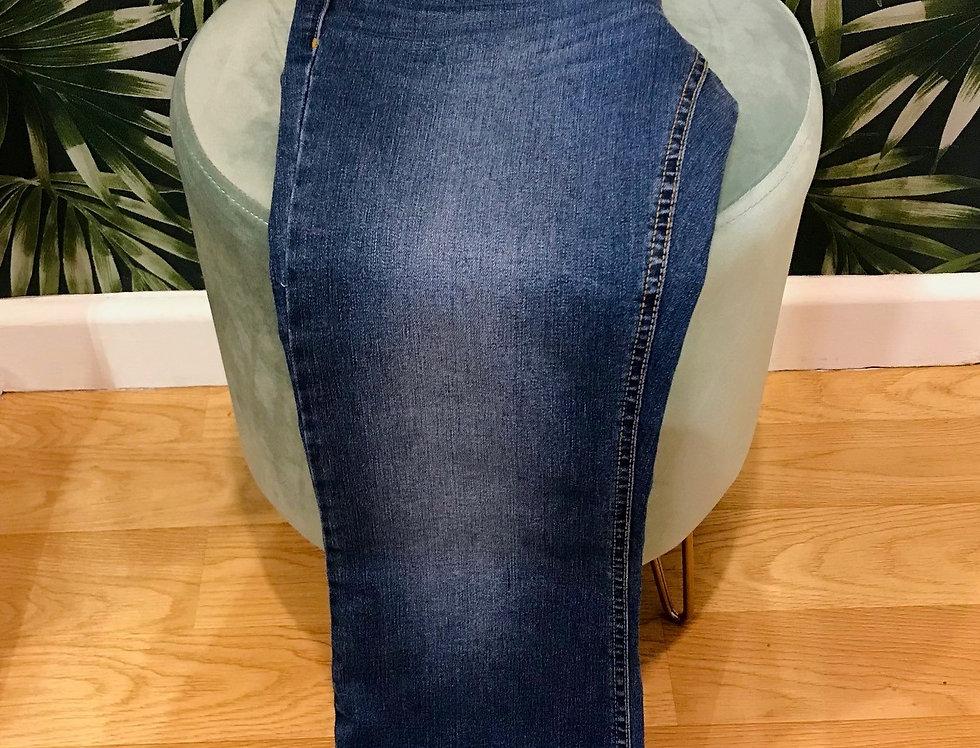 7/8 Wide Leg Jeans