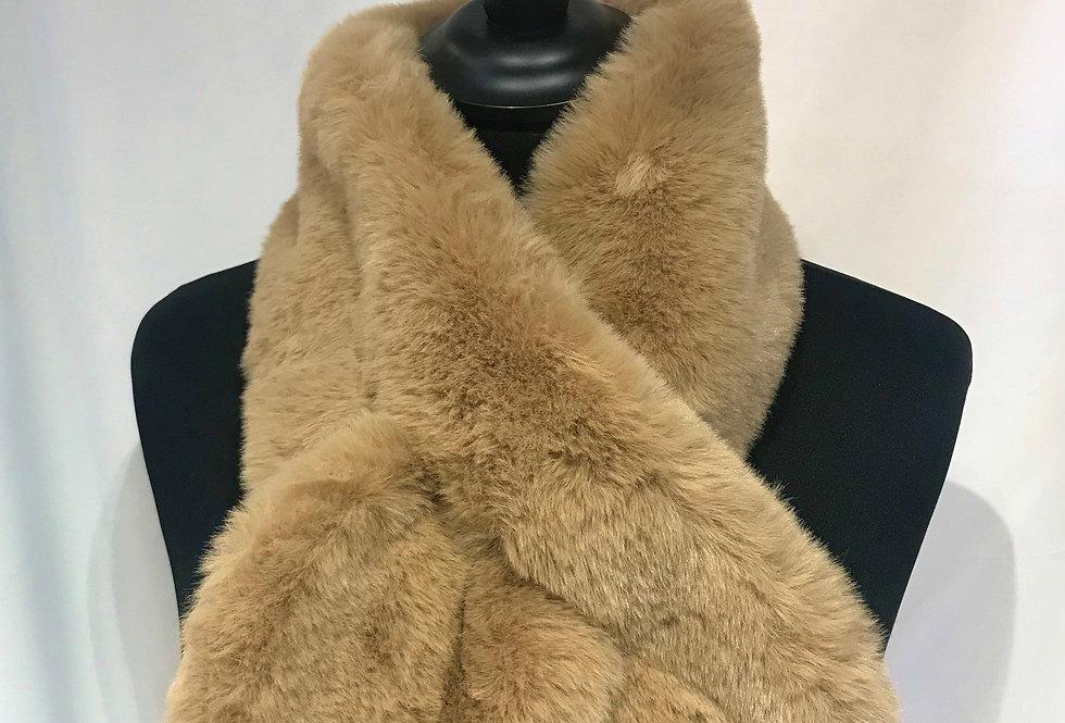Camel Fur Cross Tipet