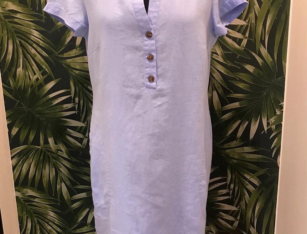 Cornflower Blue Linen Dress