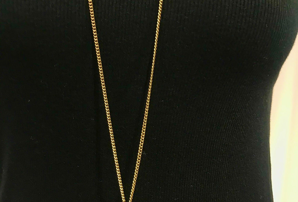 Hammered Star Gold Necklace