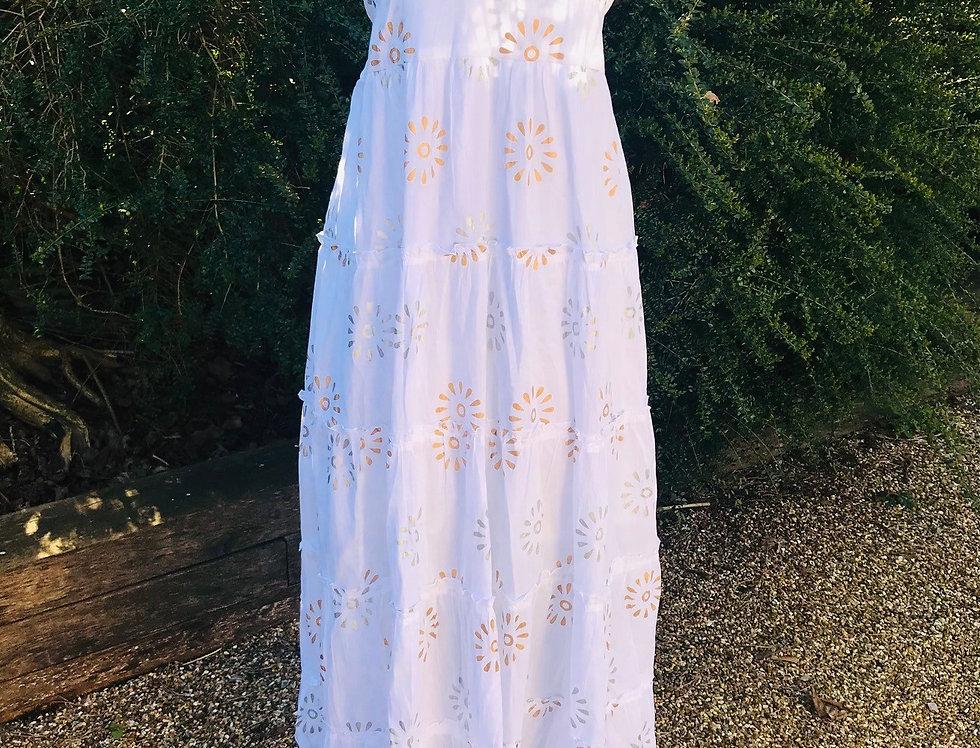 White Long Cotton Dress