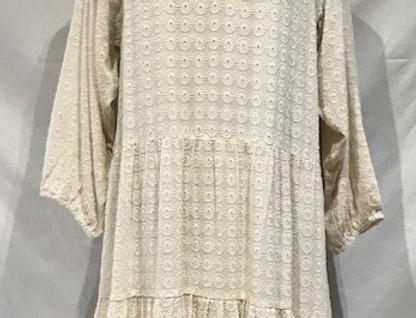 Beautiful Cream Embossed Dress