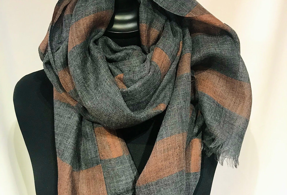 Grey Brown Classic Scarf