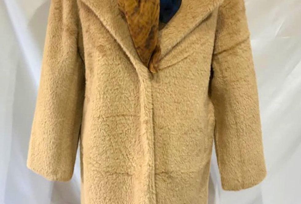 Long Ginger Fur Coat