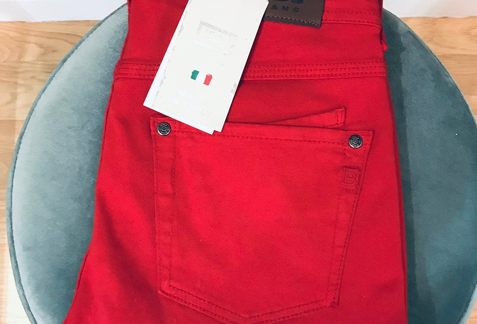 Slim Fit Red Jeans