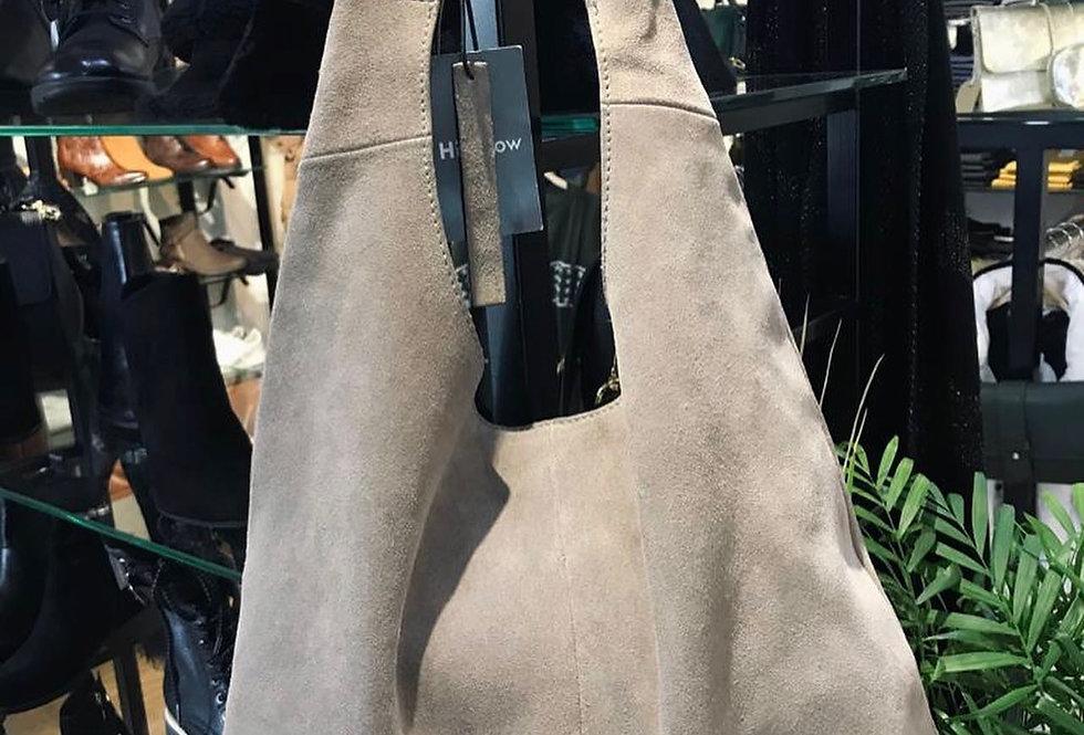 Grey Suede Sling Bag