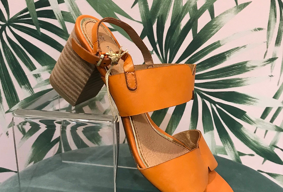 Orange Heel Sandal