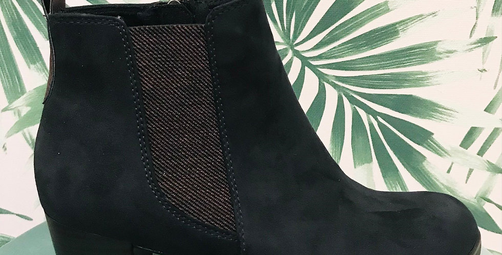 Navy Heel Boot