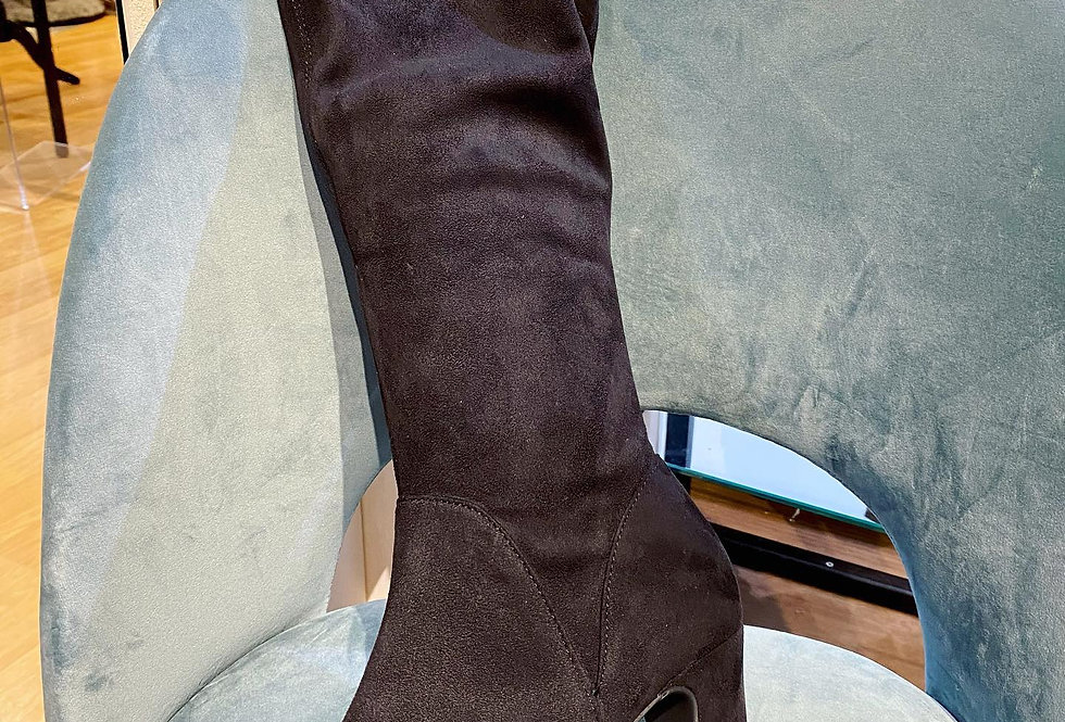 Long Black Heeled Boots