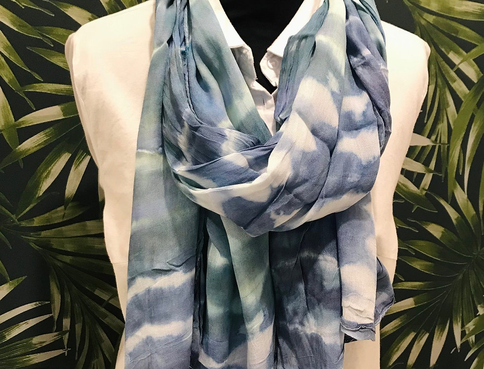 Blue Smudge Scarf