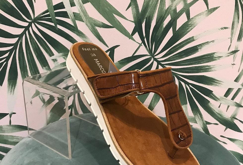 Tan Toe Thong Sandal