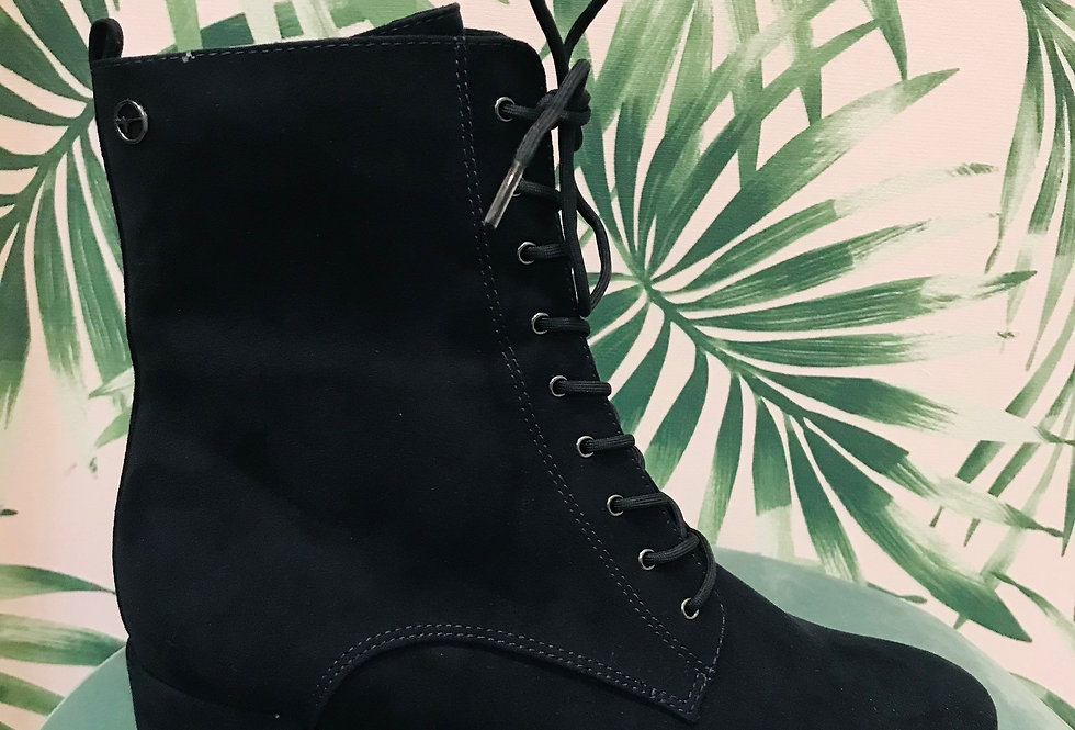 Lace Navy Boot