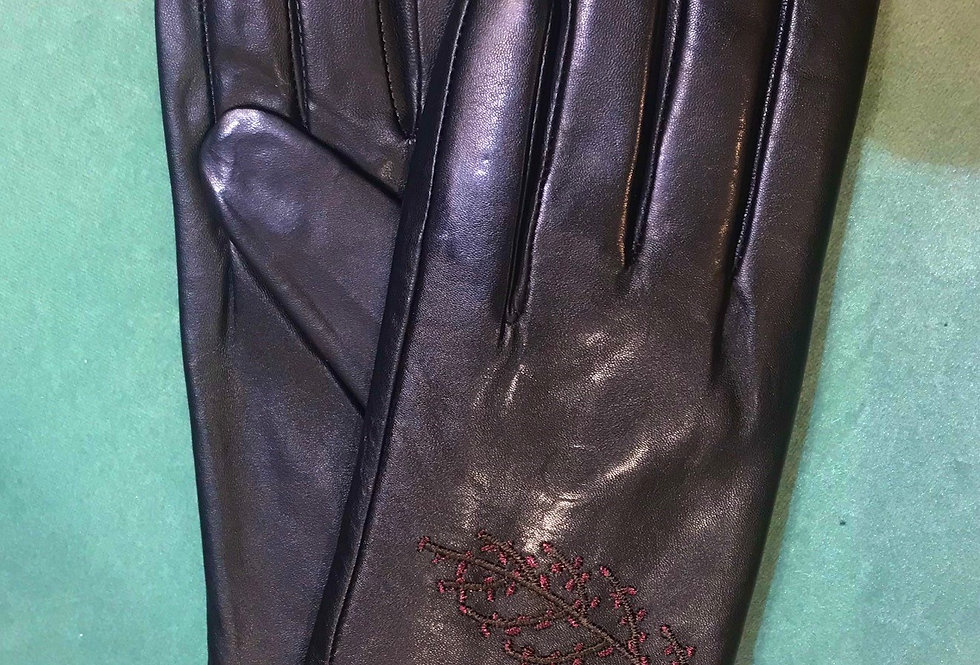 Patterned Leather Glove