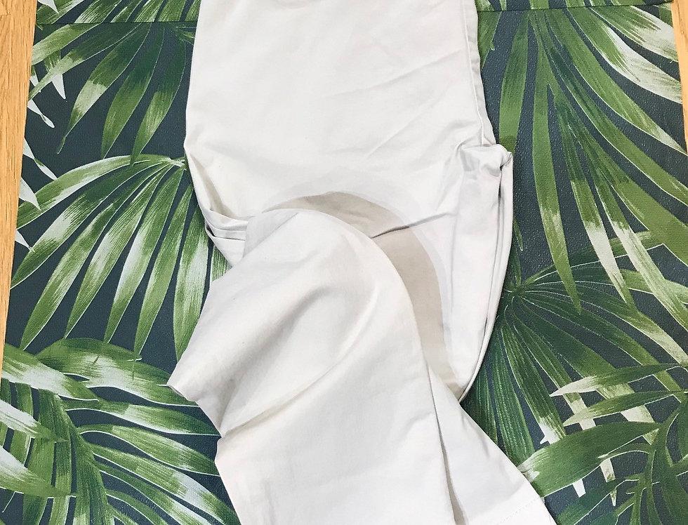 Cream Cotton Ankle Graze Trouser