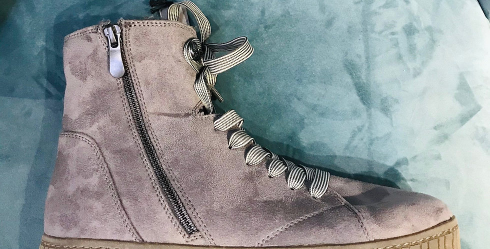 Grey Lace Boot