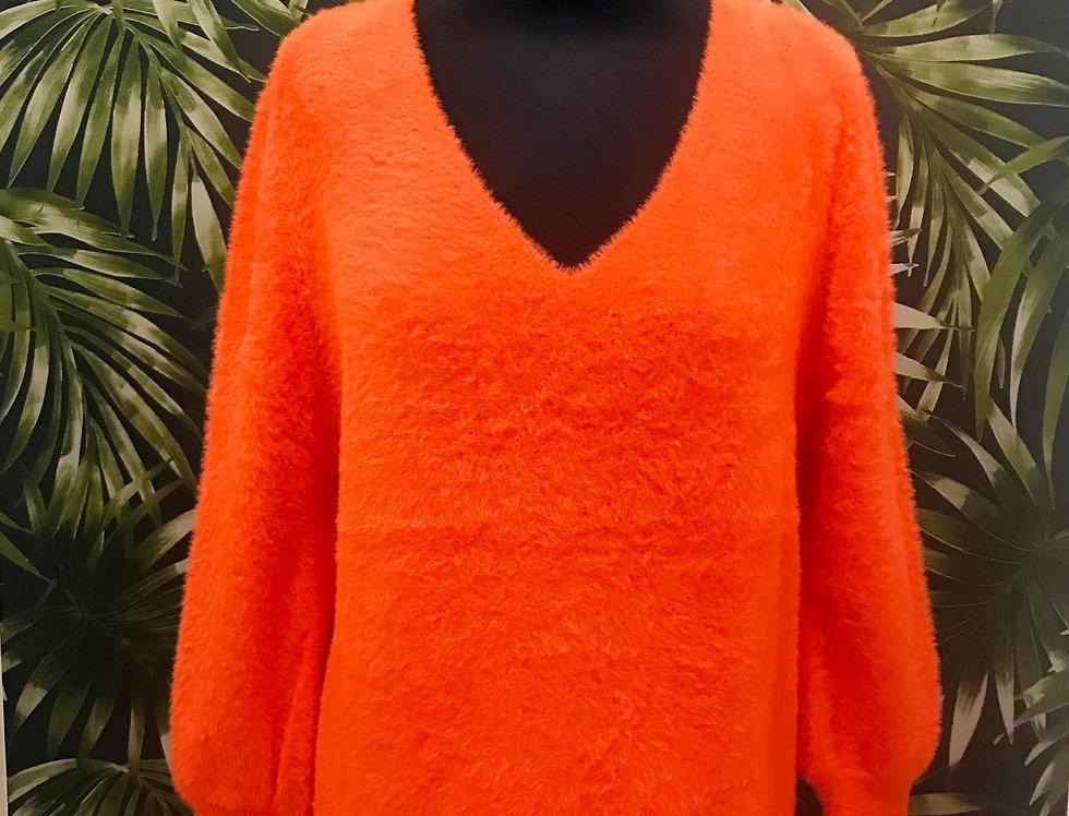 Orange Soft Fluffy Jumper