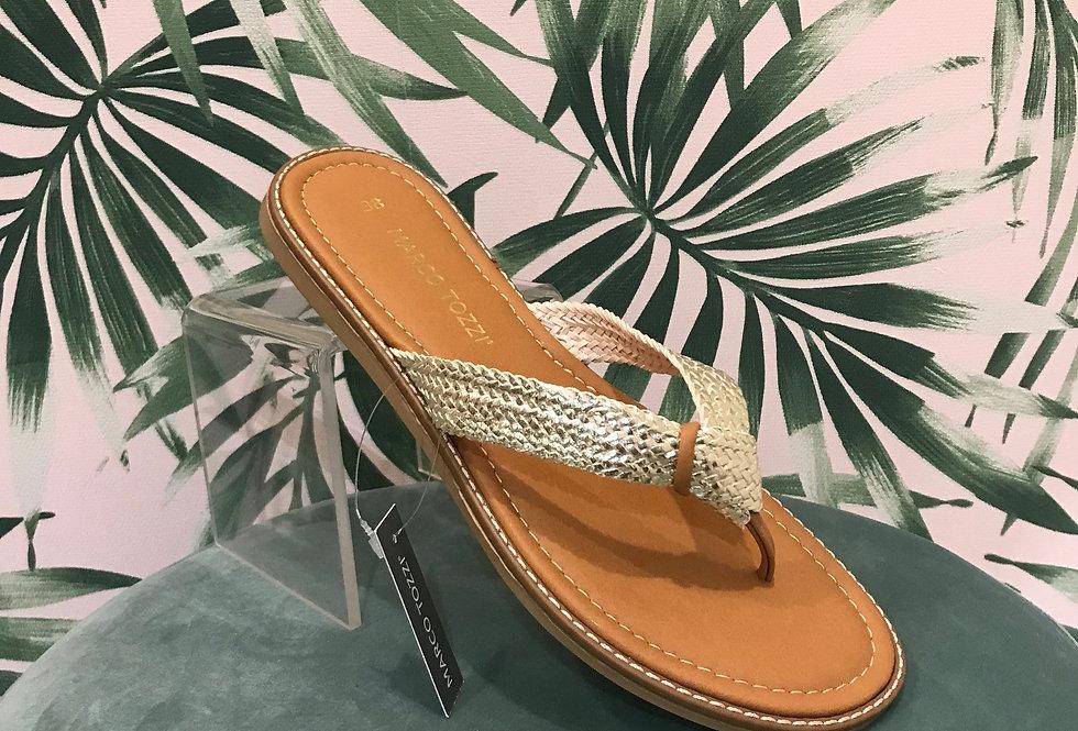 Gold Toe Thong Sandal