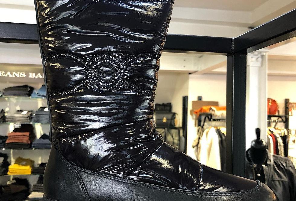 Black Patent Snow Boots
