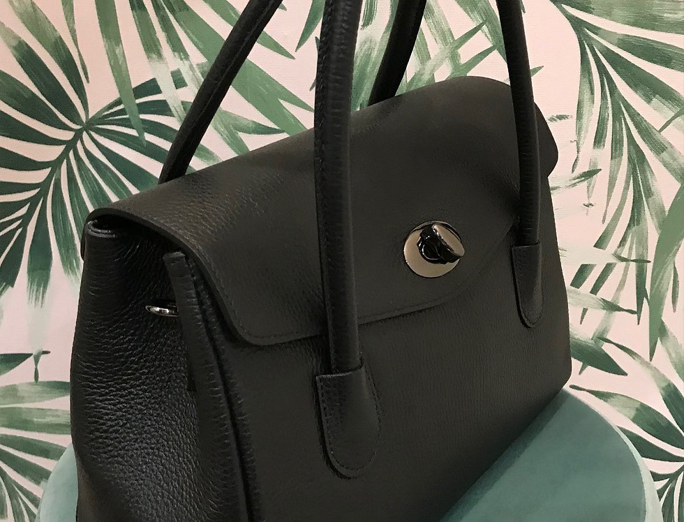 Leather Clasp Bag
