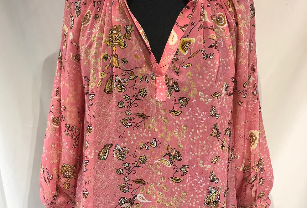 Pattern Pink Blouse