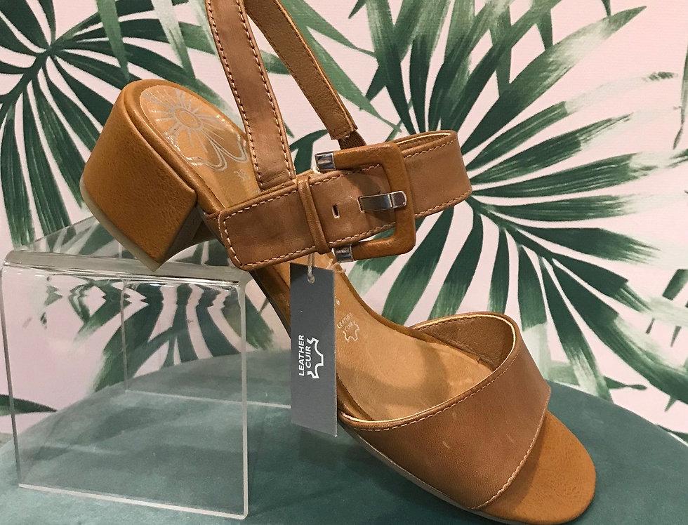 Tan Heel Sandal
