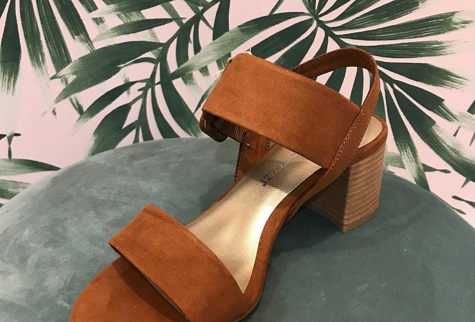 Tan Suede Sandal
