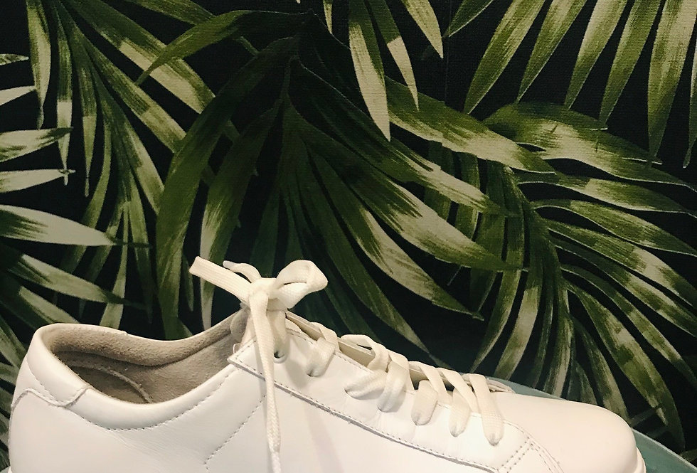 White Leather Trainer
