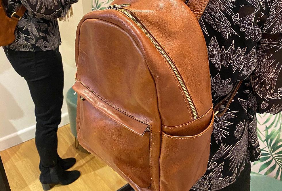 Tan Leather Rucksack