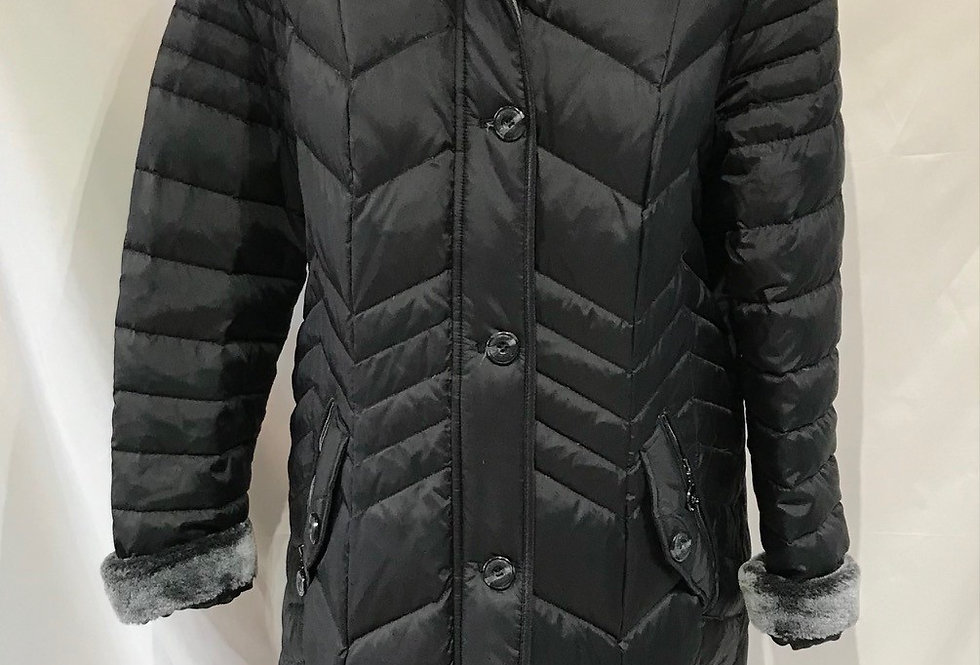 3/4 Length Black Coat