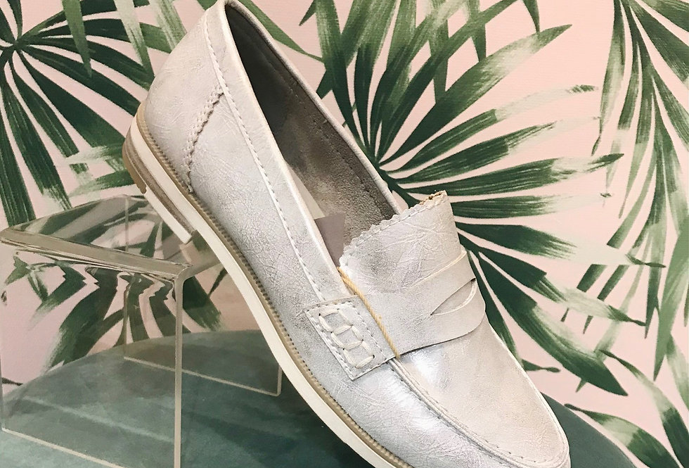 Silver/White Chunky Loafer
