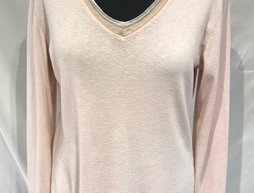 Tilly Pink V Neck Top