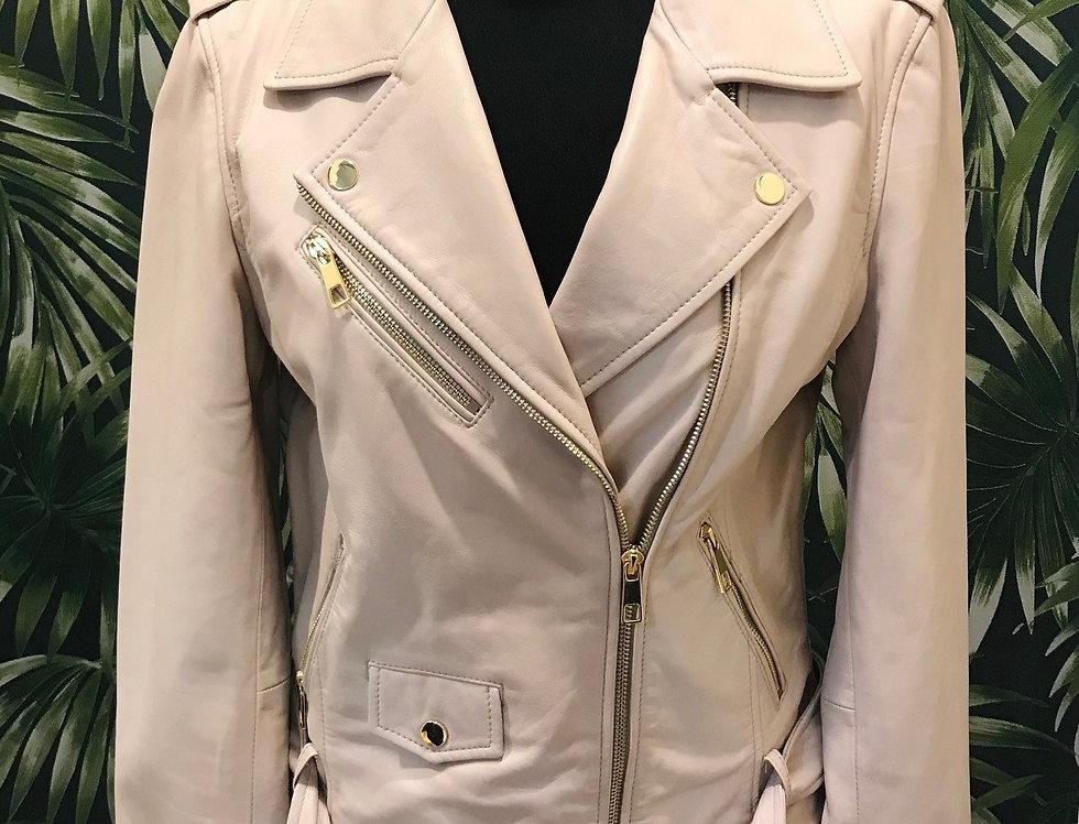 Nude Leather Jacket Scota