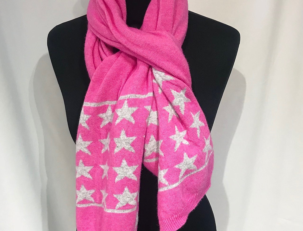 Pink Cashmere Star Scarf