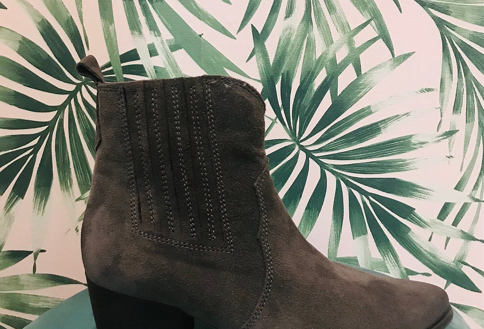 Suede Western Boot