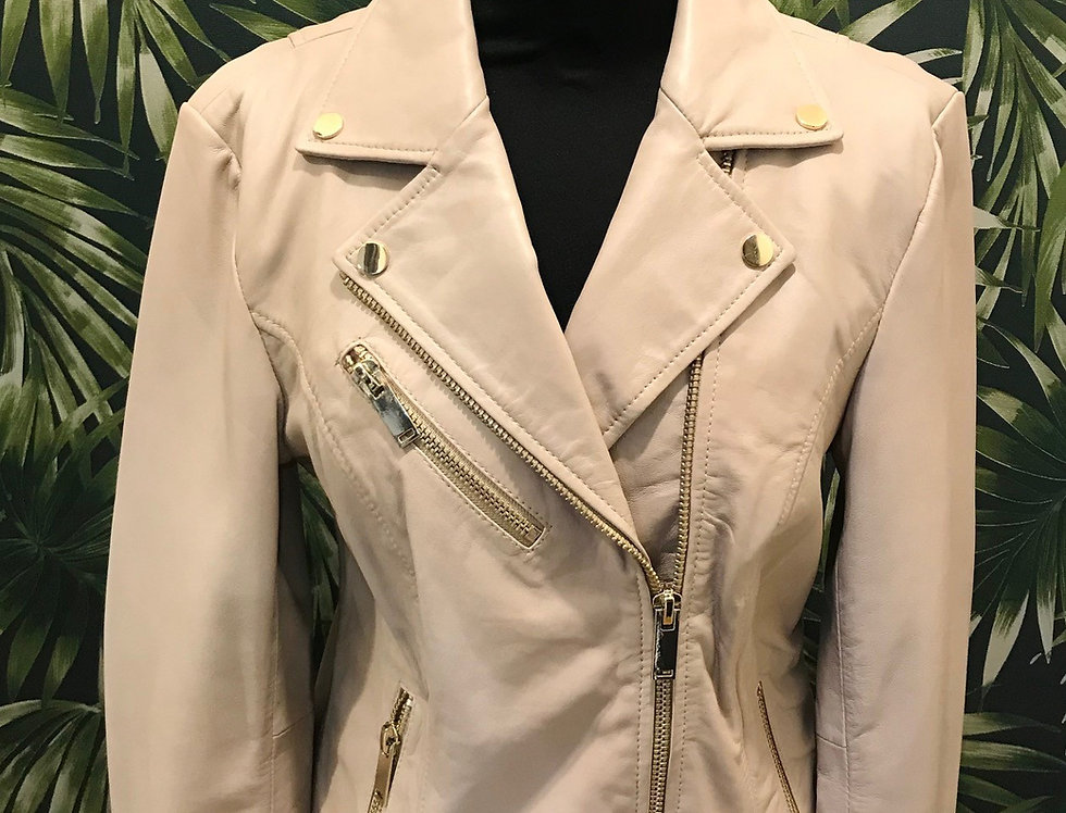 Nude Leather Jacket Ghost