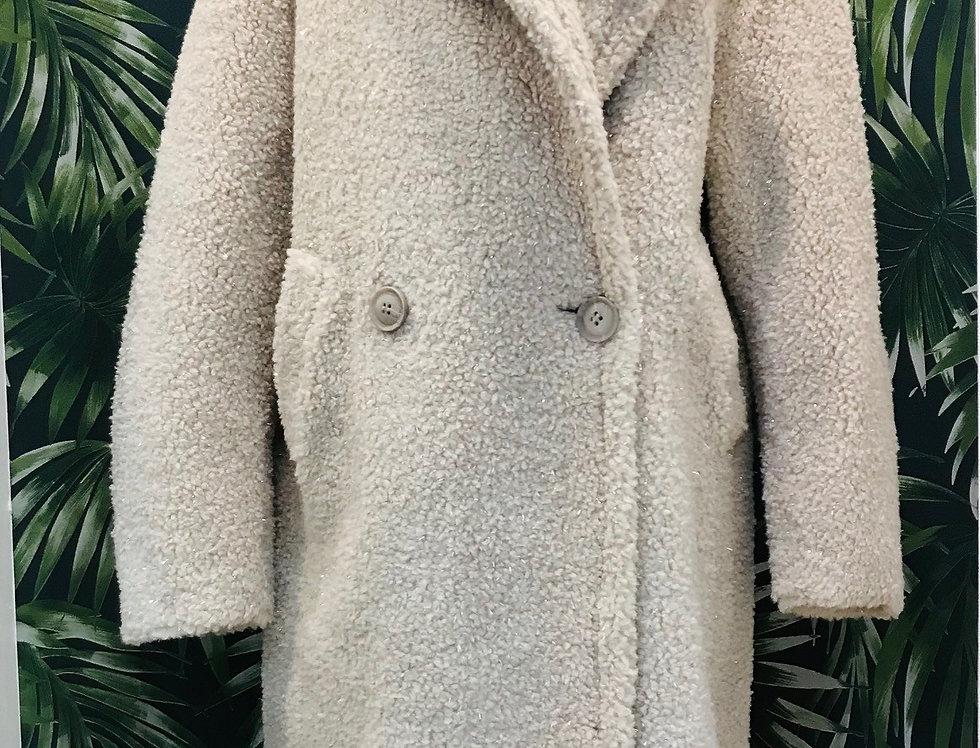Glitter Cream Coat