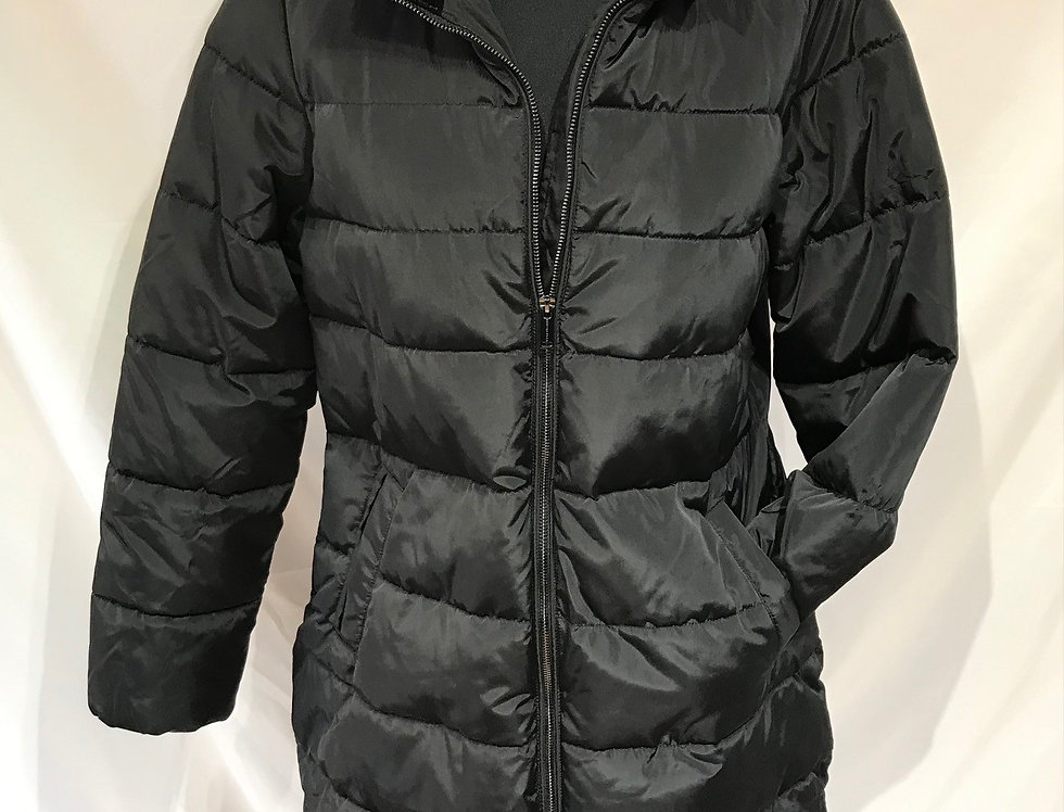 Long Black Hooded Coat