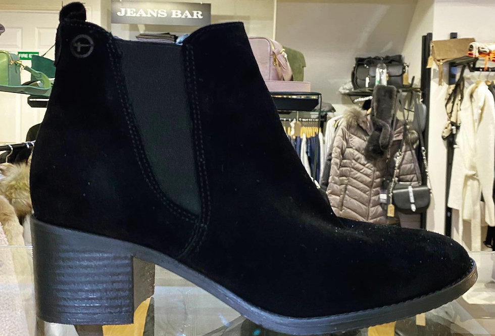 Black Suede Chelsea Ankle Boot
