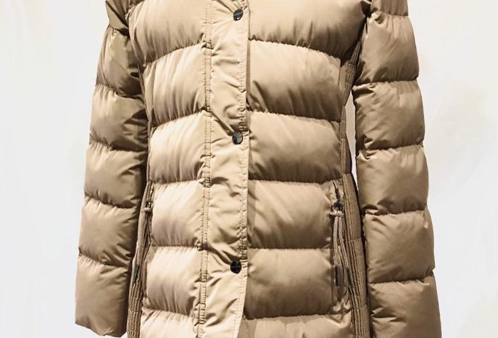 Long Bronze Padded Fur Hood Coat