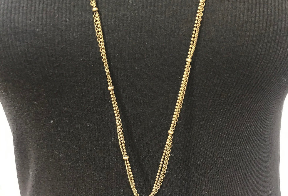 Pewter Gold Chain Necklace
