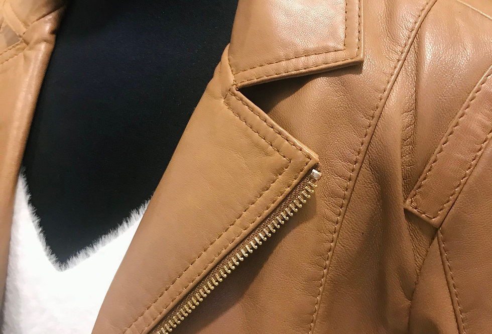 Toffee Leather Jacket
