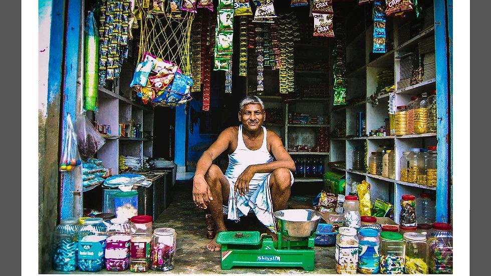 Proud Shopkeeper, Uttar Pradesh