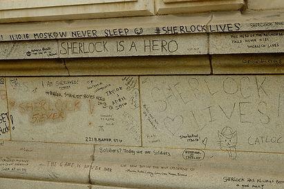Sherlock Holmes Fan Graffiti