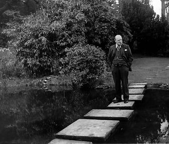 Sir Winston Churchill At Chartwell